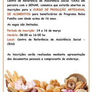 Curso de Produção Artesanal de Alimentos