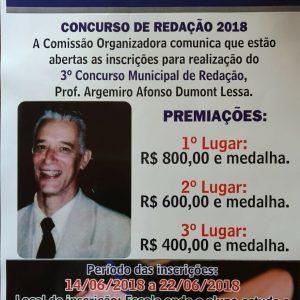 Concurso de Redação 2018