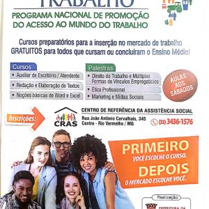 PROGRAMA NACIONAL DE PROMOÇÃO DO ACESSO AO MUNDO DO TRABALHO