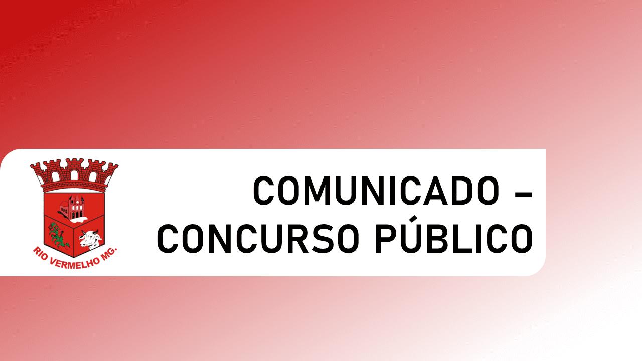 COMUNICADO – CONCURSO PÚBLICO – adiamento das provas objetivas