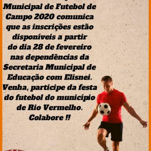 XV Campeonato Municipal de Futebol 2020