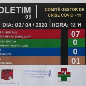 BOLETIM 09 – Comitê Gestor de Crise COVID-19