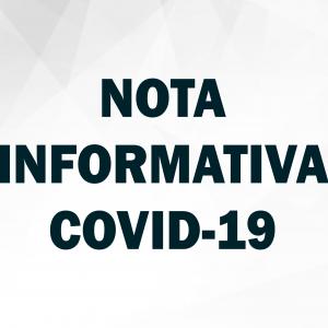ATUALIZAÇÃO NOTA INFORMATIVA COVID-19