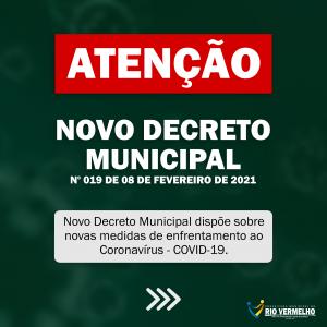 DECRETO Nº 19 DE 08 DE FEVEREIRO DE 2021