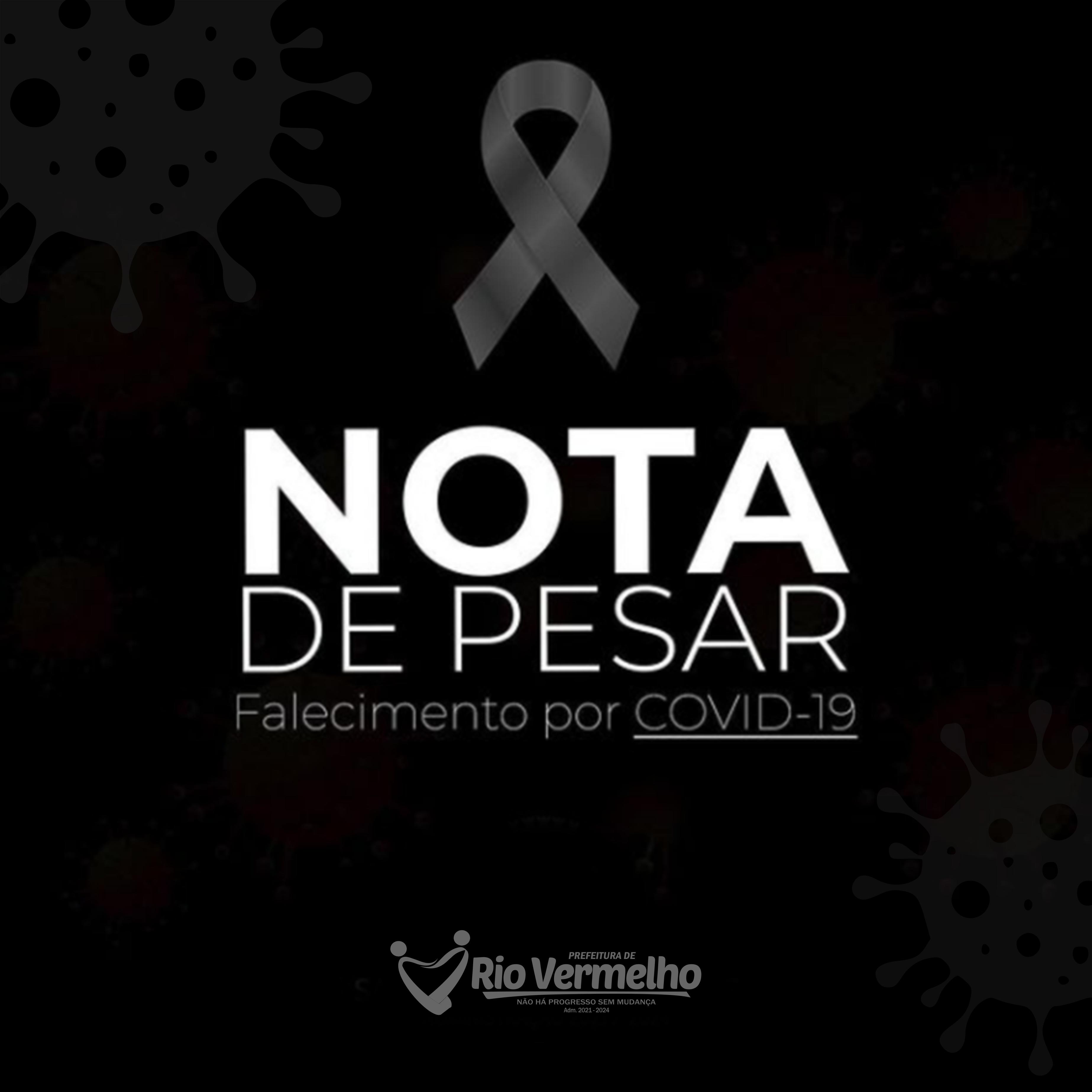 NOTA DE PESAR – 1º ÓBITO POR COVID-19 EM RIO VERMELHO