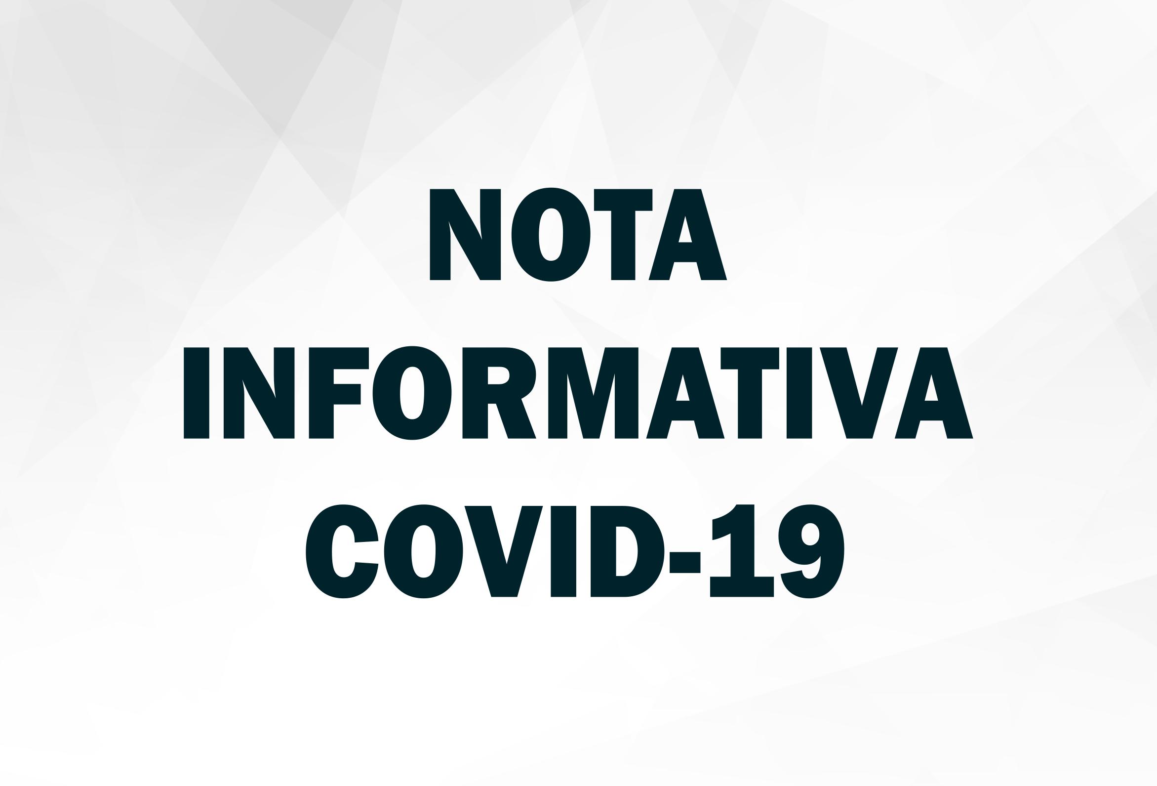 NOTA INFORMATIVA Nº 31/2021 (COVID-19)