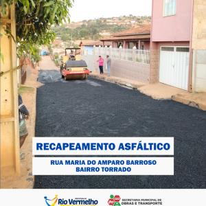PREFEITURA INICIA RECAPEAMENTO ASFÁLTICO NO BAIRRO TORRADO