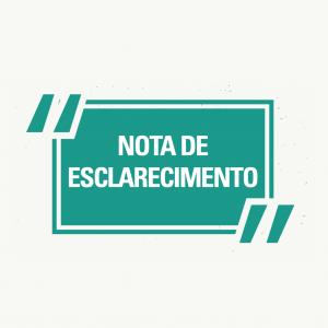 NOTA DE ESCLARECIMENTO – VACINAÇÃO CONTRA A COVID-19