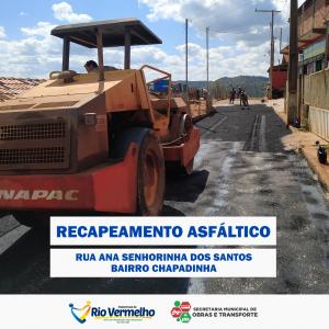 RECAPEAMENTO DA RUA ANA SENHORINHA DOS SANTOS, CHAPADINHA