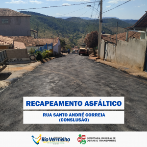 RECAPEAMENTO DA RUA SANTO ANDRÉ CORREIA